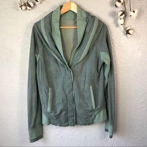 Lululemon To Class Button Grey/Green Jacket 12